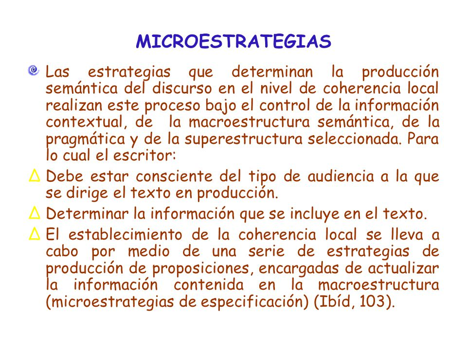 MICROESTRATEGIAS