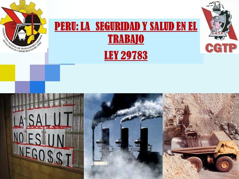 PERU: LA SEGURIDAD Y SALUD EN EL TRABAJO