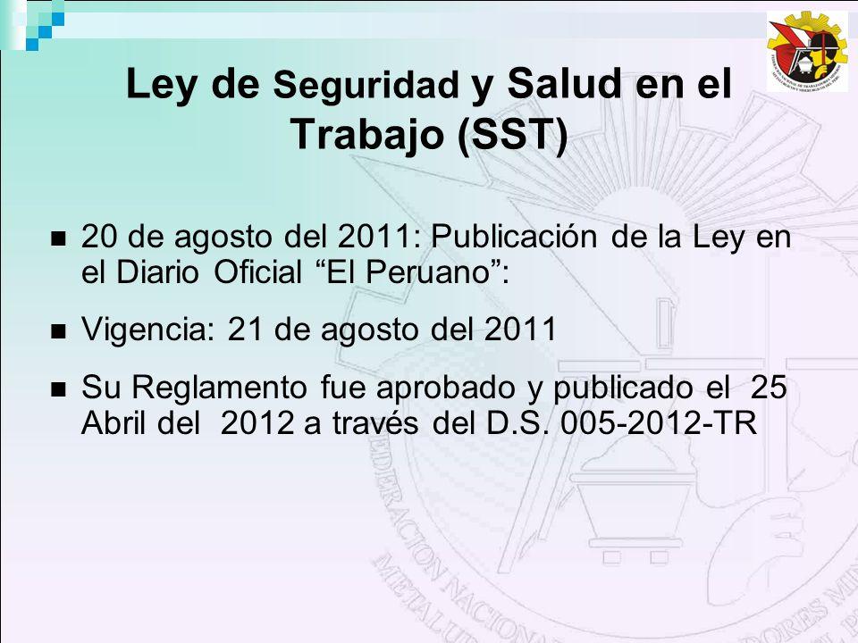 Ley de Seguridad y Salud en el Trabajo (SST)