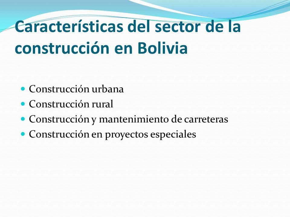 Características del sector de la construcción en Bolivia