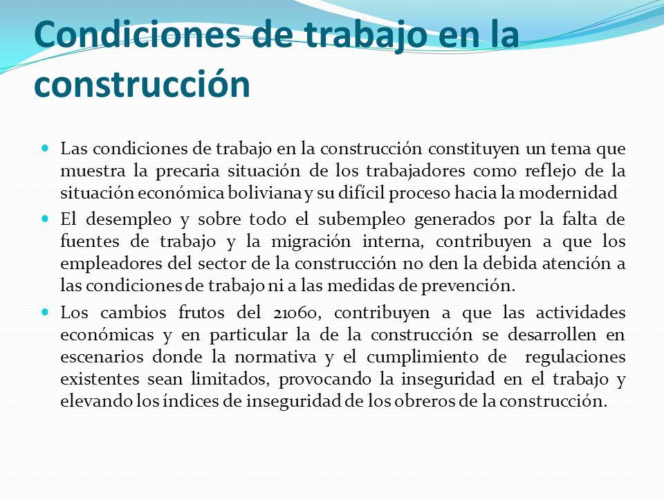 Condiciones de trabajo en la construcción