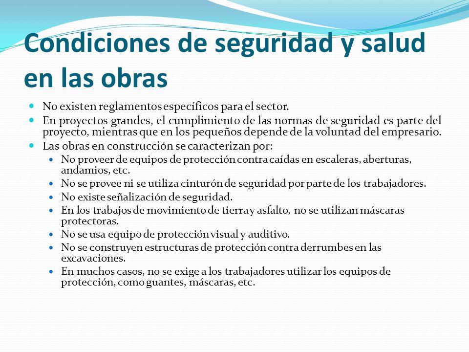 Condiciones de seguridad y salud en las obras