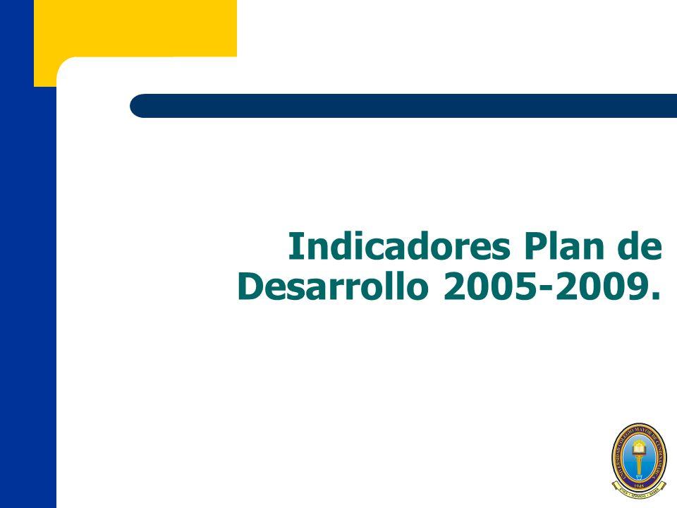 Indicadores Plan de Desarrollo 2005-2009.