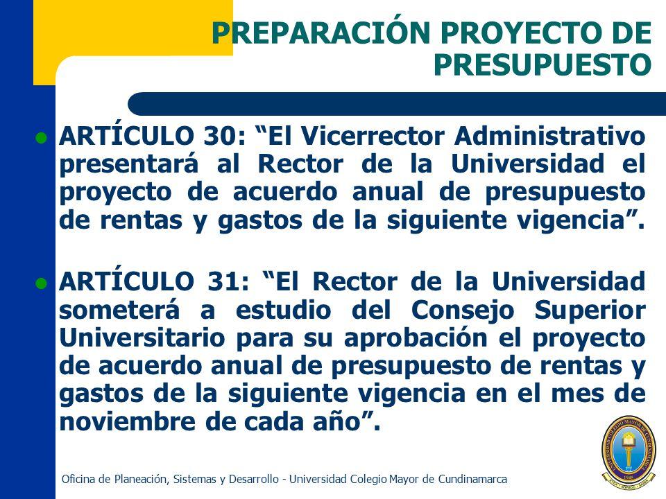 PREPARACIÓN PROYECTO DE PRESUPUESTO