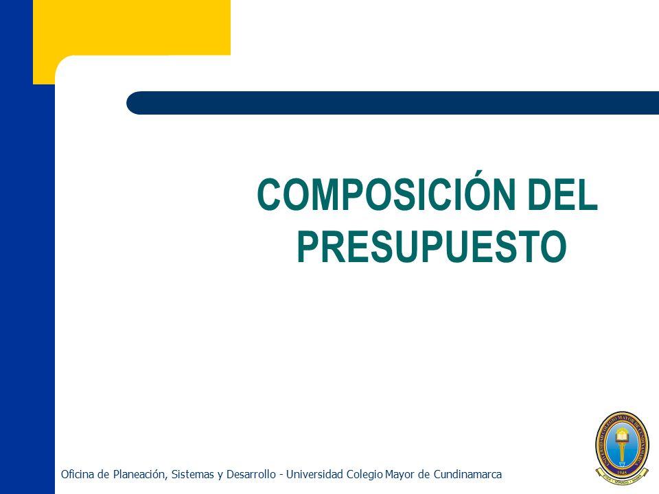 COMPOSICIÓN DEL PRESUPUESTO
