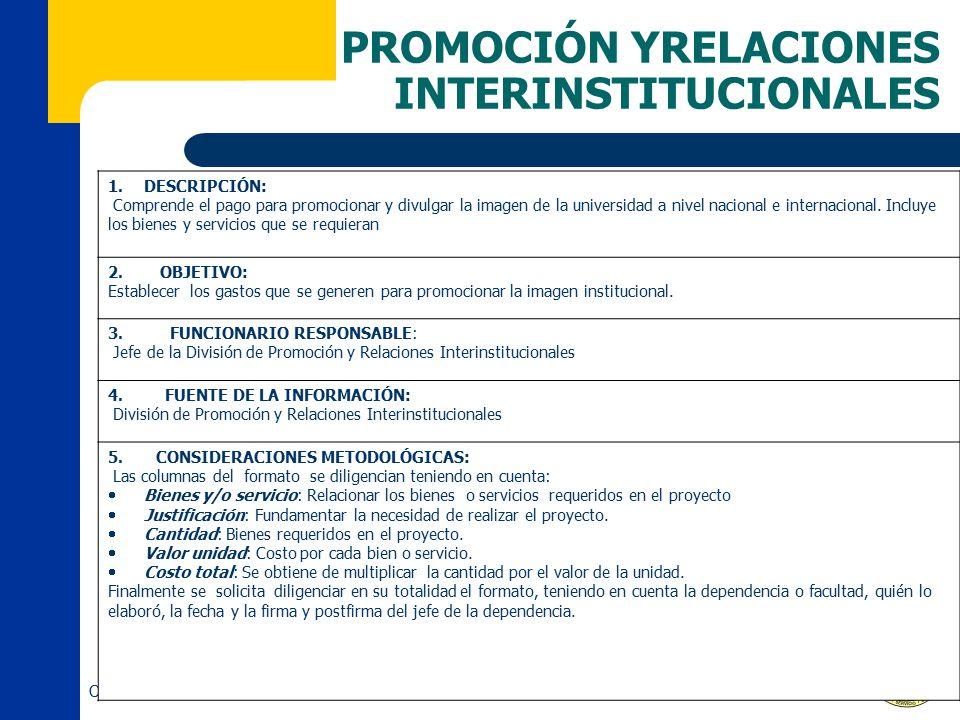 PROMOCIÓN YRELACIONES INTERINSTITUCIONALES