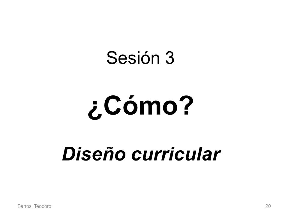 Sesión 3 ¿Cómo Diseño curricular