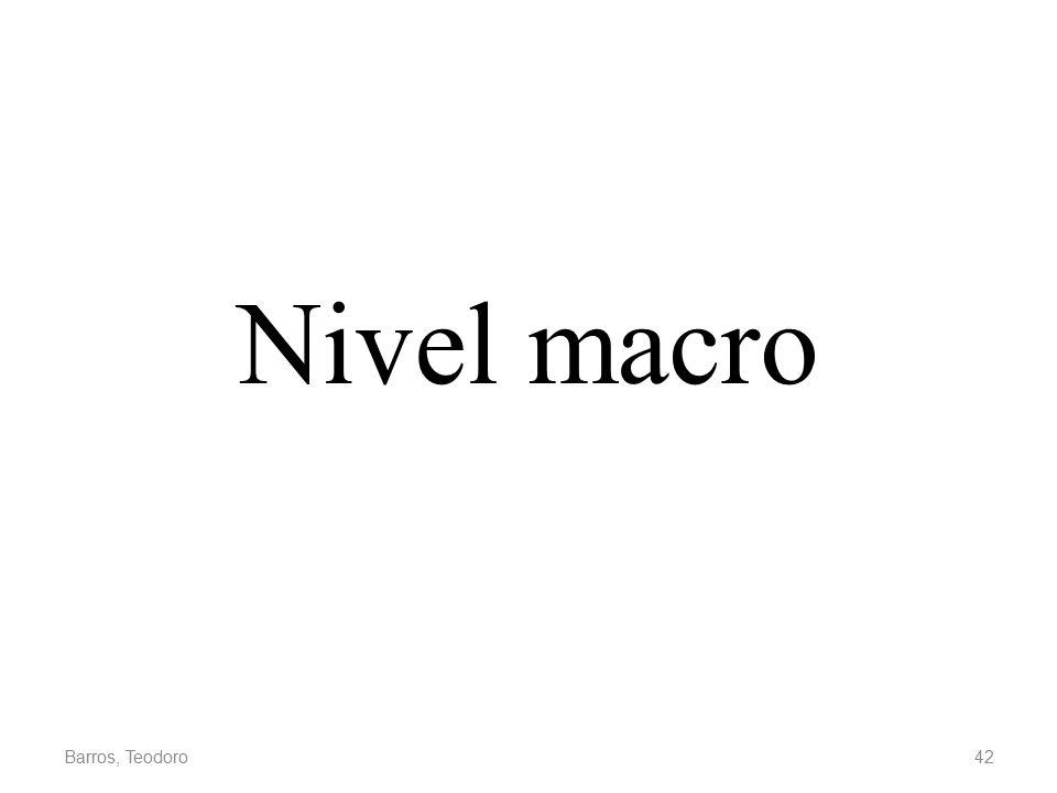 Nivel macro Barros, Teodoro