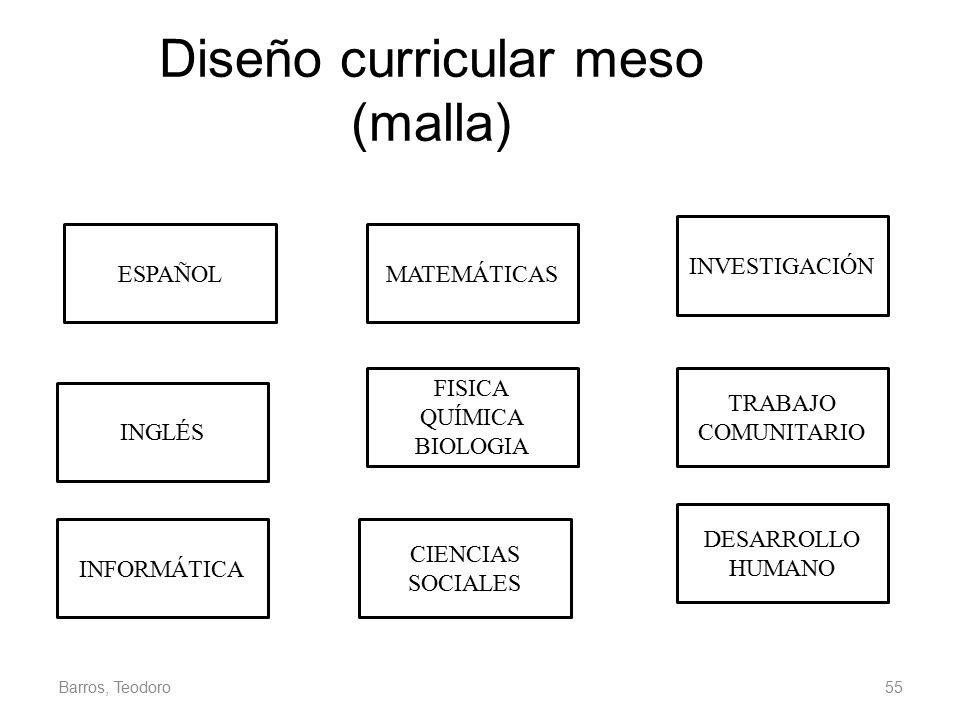 Diseño curricular meso (malla)