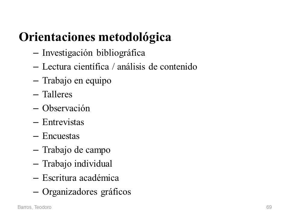 Orientaciones metodológica