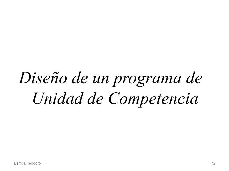 Diseño de un programa de Unidad de Competencia