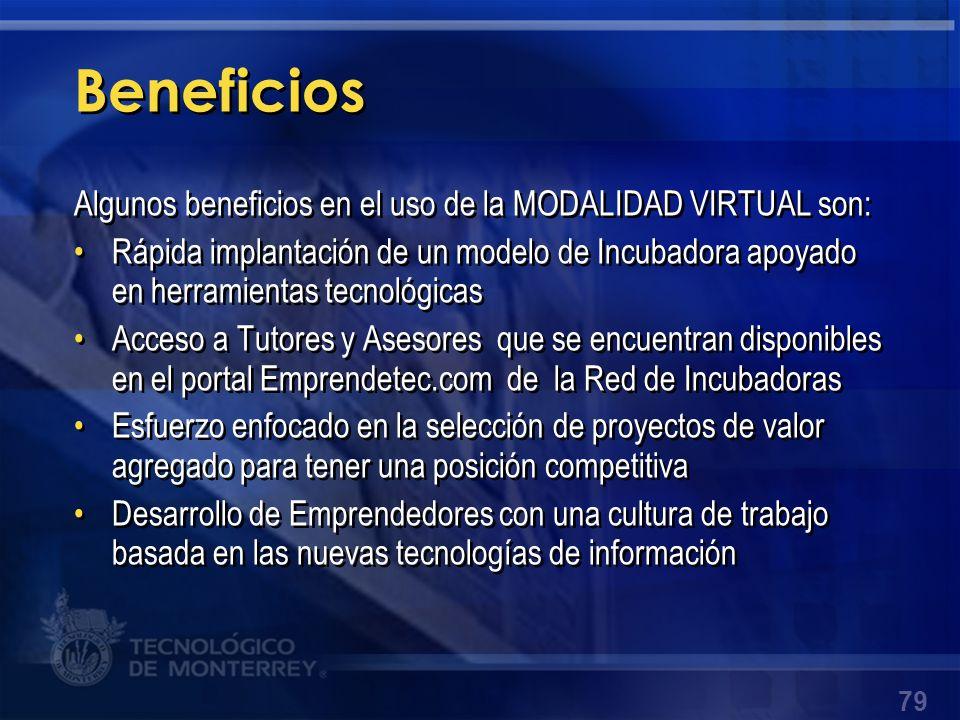 Beneficios Algunos beneficios en el uso de la MODALIDAD VIRTUAL son: