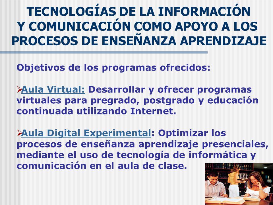 TECNOLOGÍAS DE LA INFORMACIÓN Y COMUNICACIÓN COMO APOYO A LOS