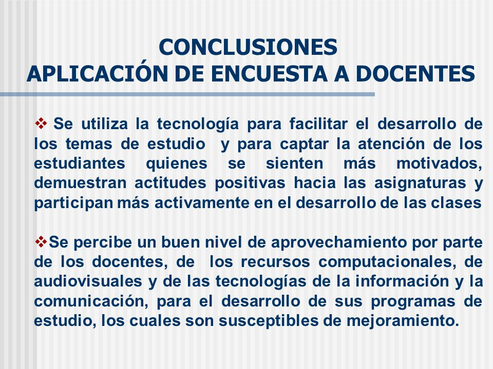 APLICACIÓN DE ENCUESTA A DOCENTES