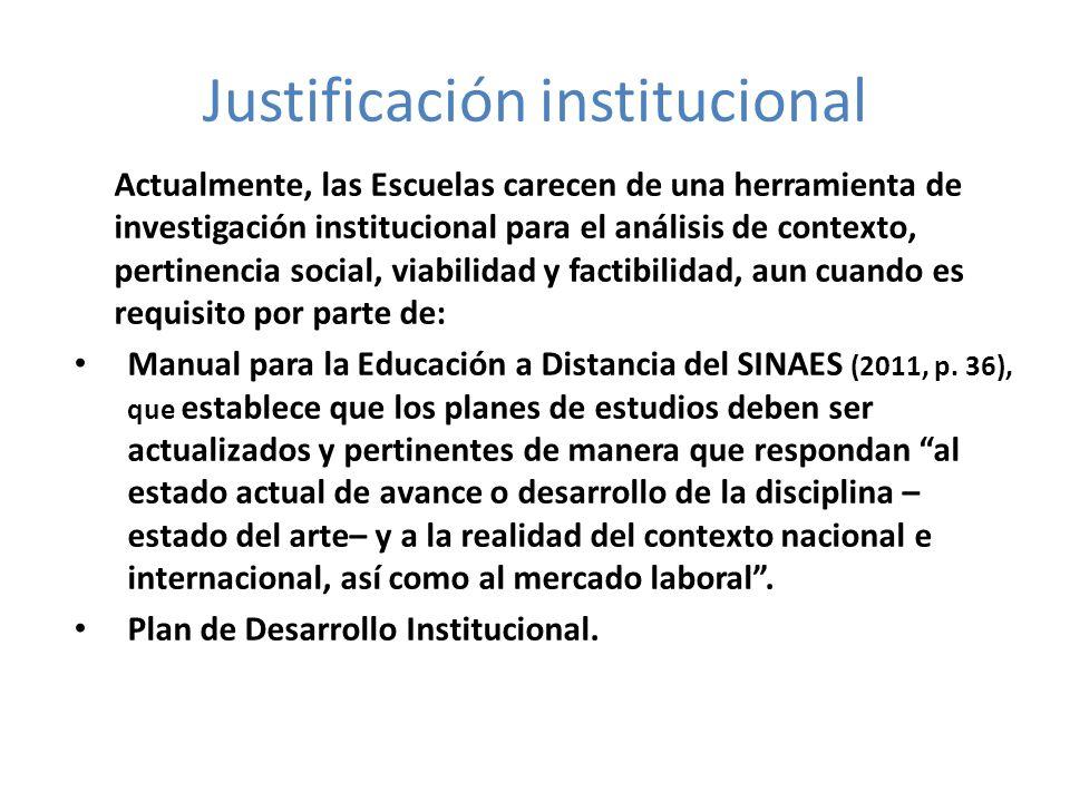 Justificación institucional