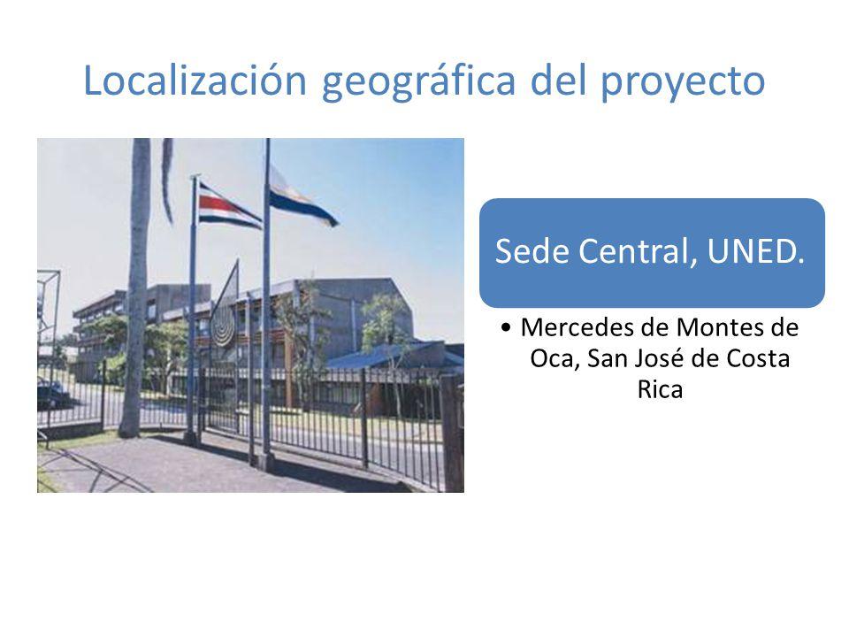 Localización geográfica del proyecto