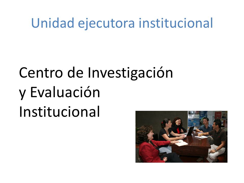 Unidad ejecutora institucional