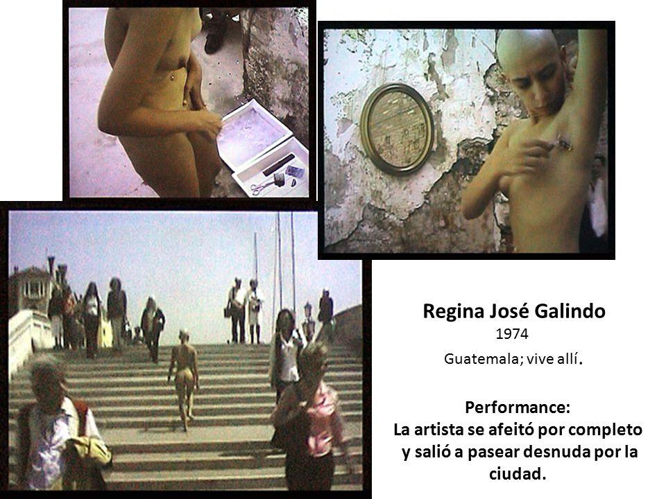 Regina José Galindo Performance: La artista se afeitó por completo