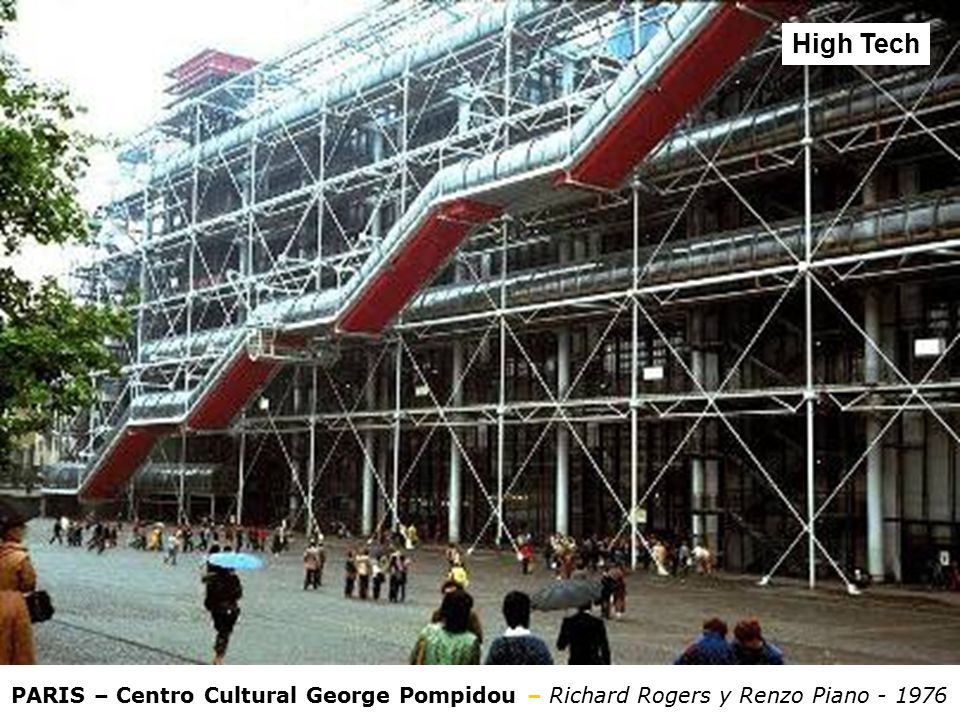 High Tech PARIS – Centro Cultural George Pompidou – Richard Rogers y Renzo Piano - 1976