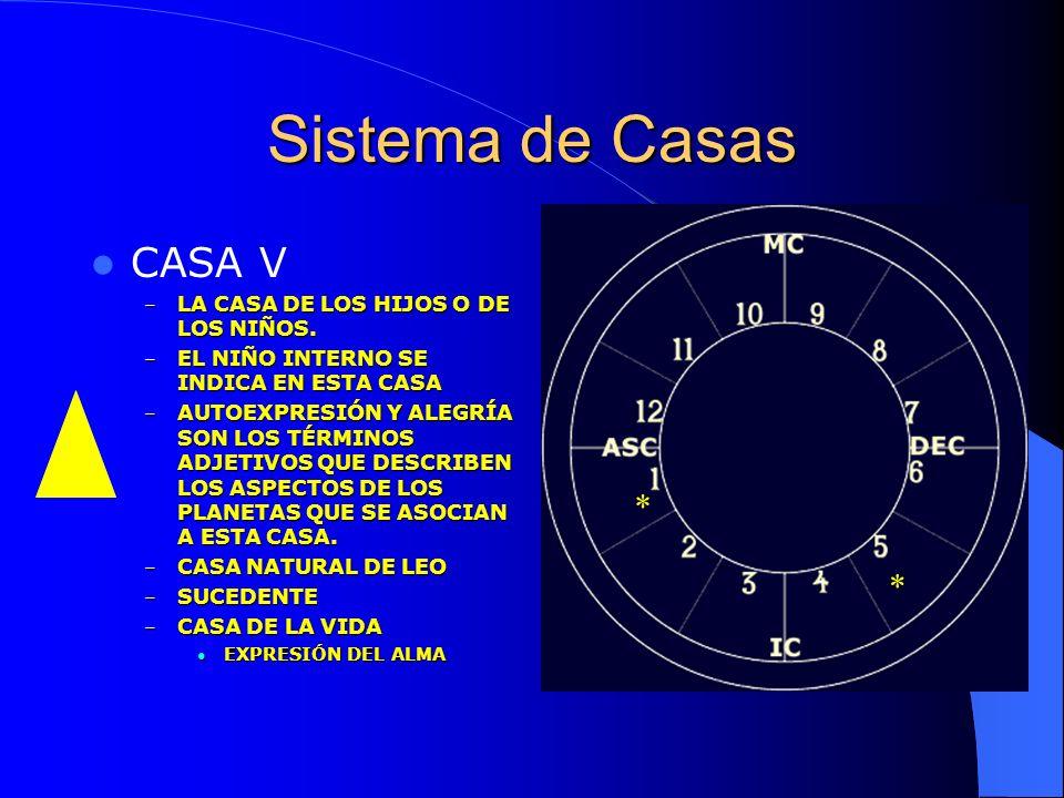 Sistema de Casas CASA V * * LA CASA DE LOS HIJOS O DE LOS NIÑOS.