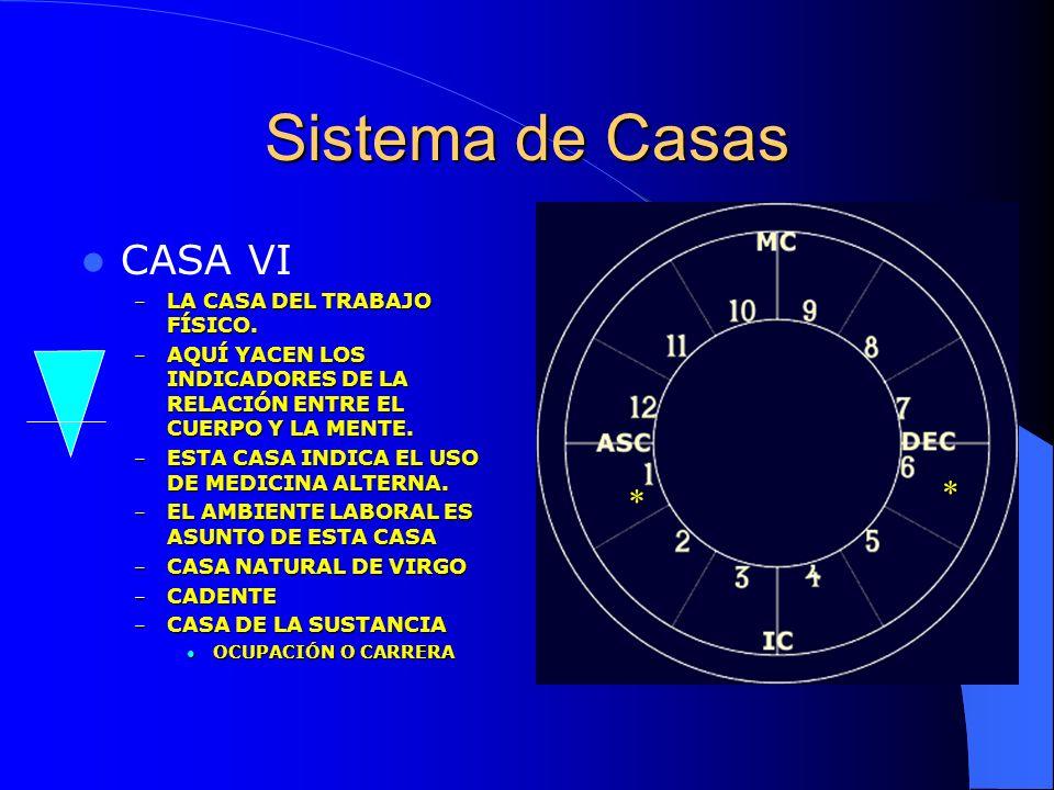Sistema de Casas CASA VI * * LA CASA DEL TRABAJO FÍSICO.