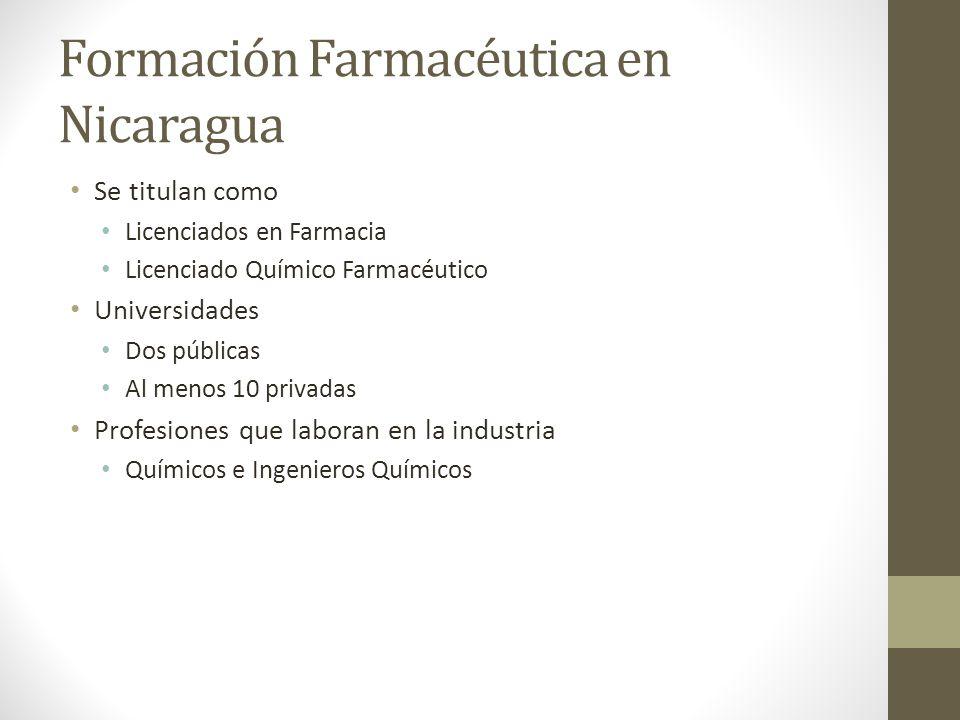 Formación Farmacéutica en Nicaragua