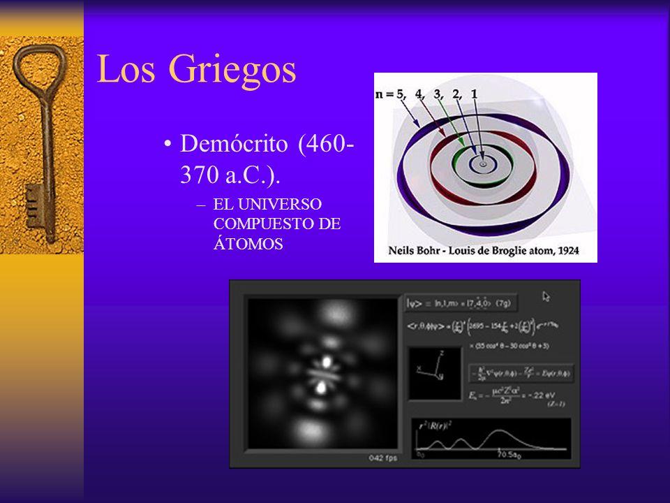 Los Griegos Demócrito (460-370 a.C.). EL UNIVERSO COMPUESTO DE ÁTOMOS