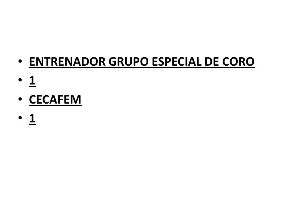 ENTRENADOR GRUPO ESPECIAL DE CORO