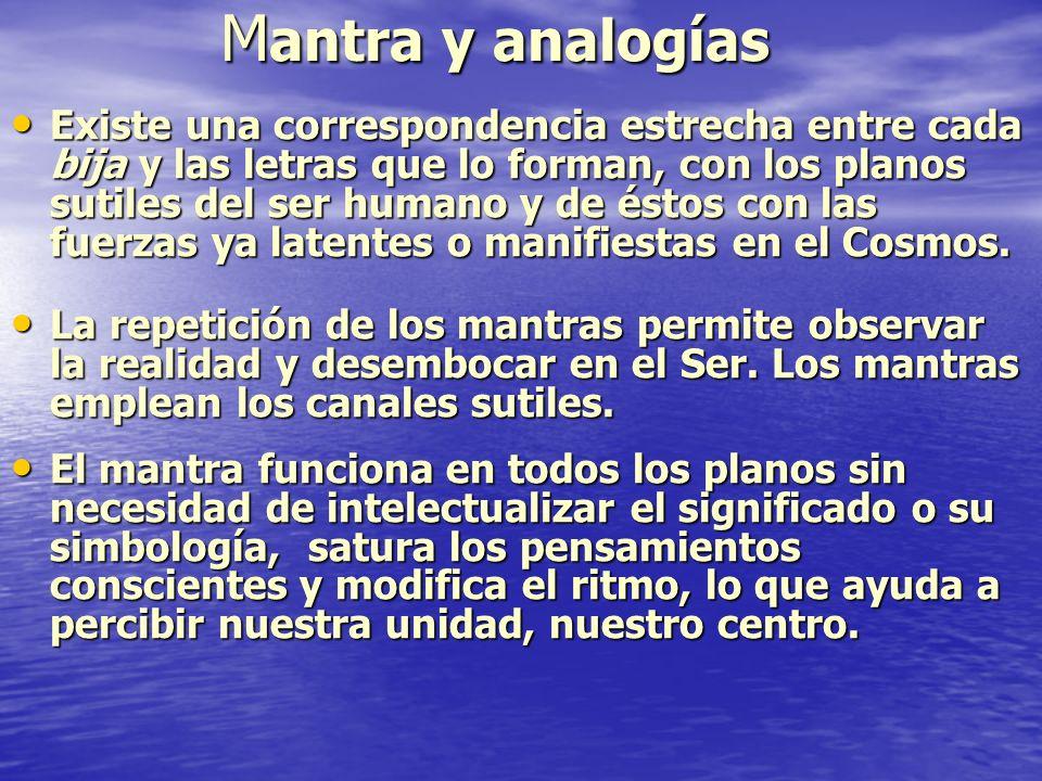 Mantra y analogías