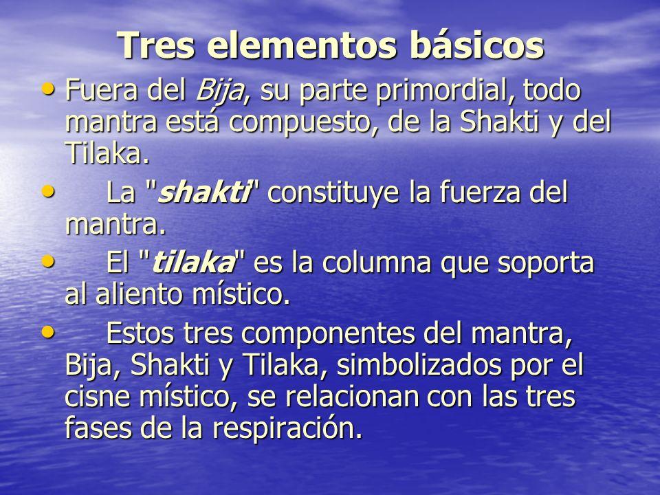 Tres elementos básicos