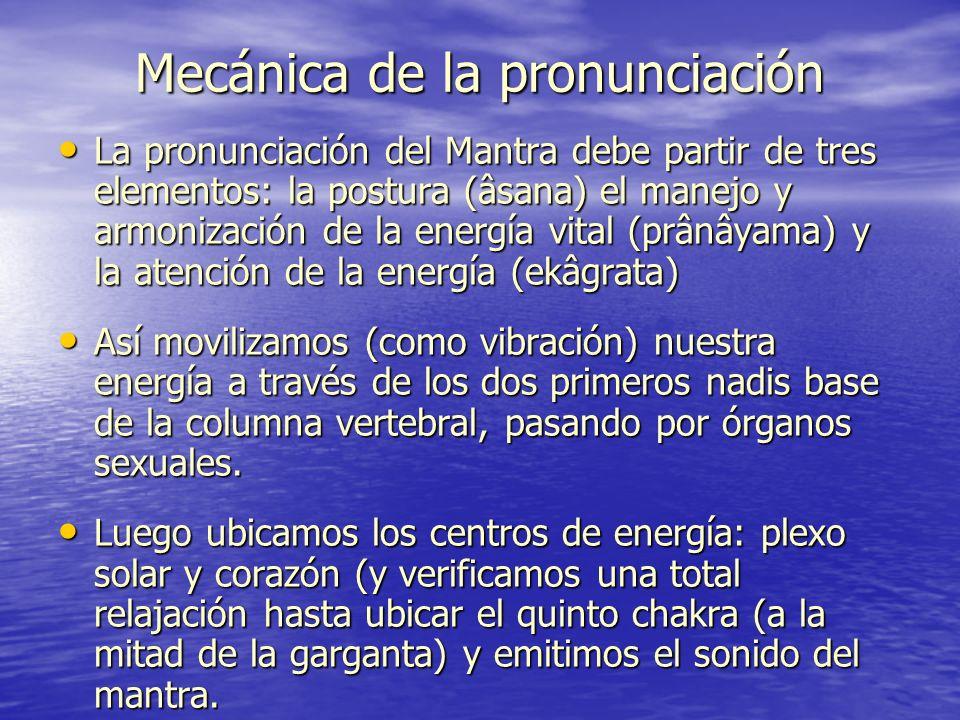 Mecánica de la pronunciación