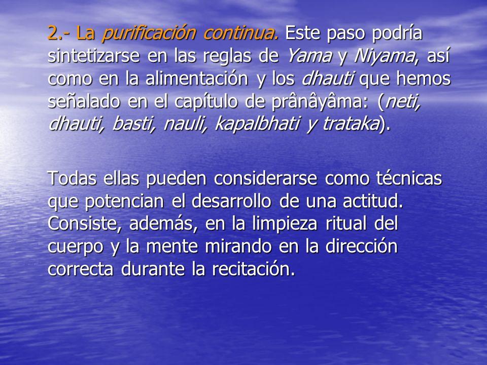 2. - La purificación continua