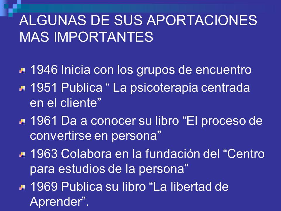 ALGUNAS DE SUS APORTACIONES MAS IMPORTANTES