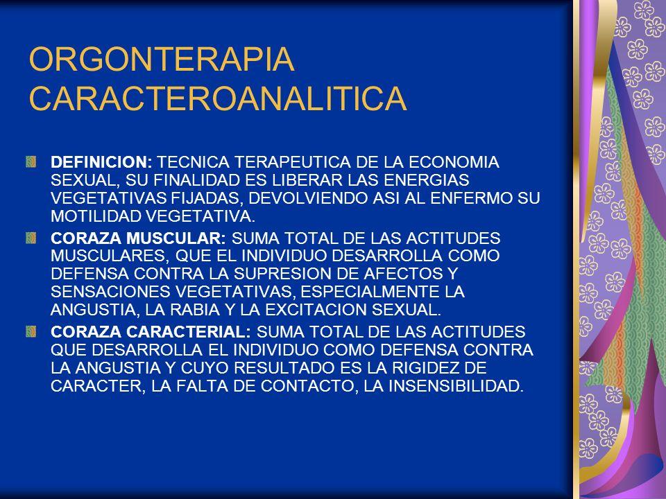 ORGONTERAPIA CARACTEROANALITICA
