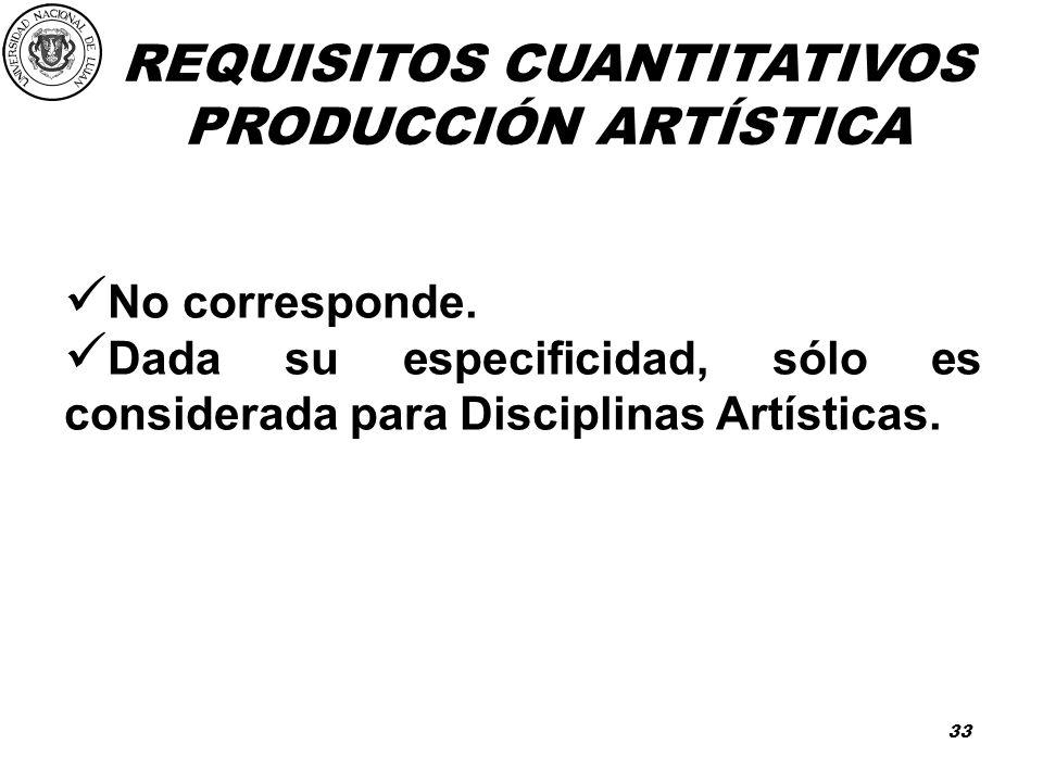 PRODUCCIÓN ARTÍSTICA No corresponde.