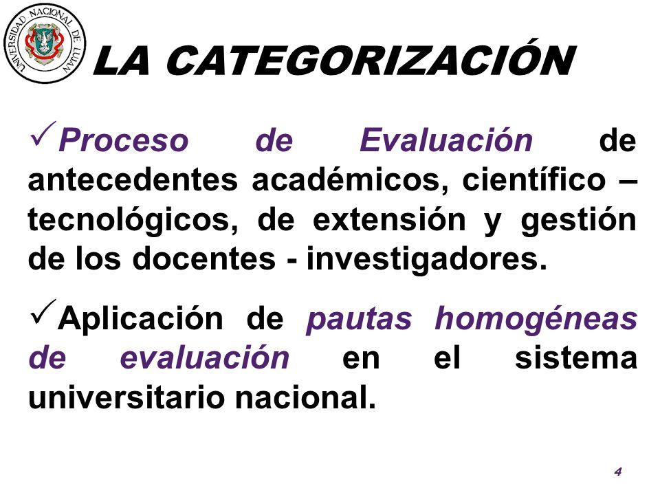 LA CATEGORIZACIÓN