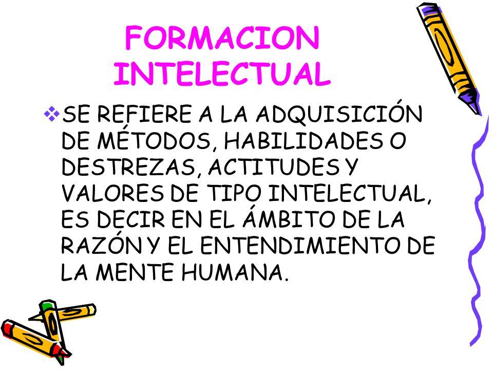 FORMACION INTELECTUAL