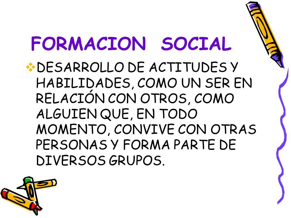 FORMACION SOCIAL