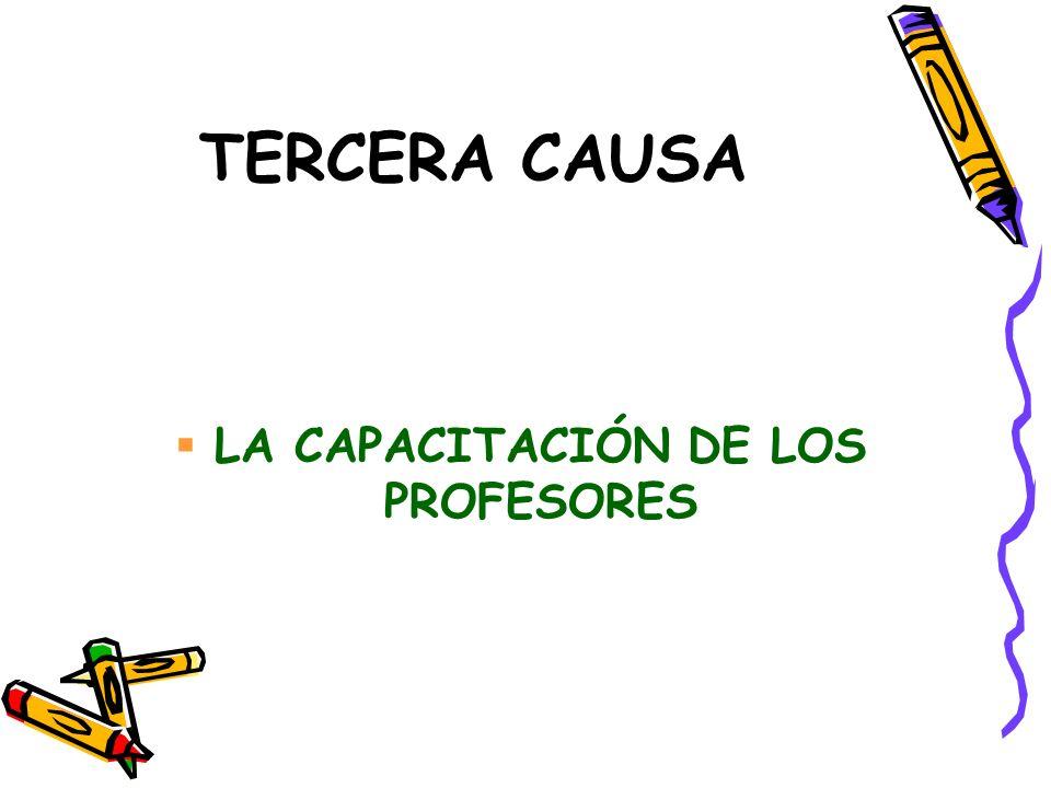 LA CAPACITACIÓN DE LOS PROFESORES