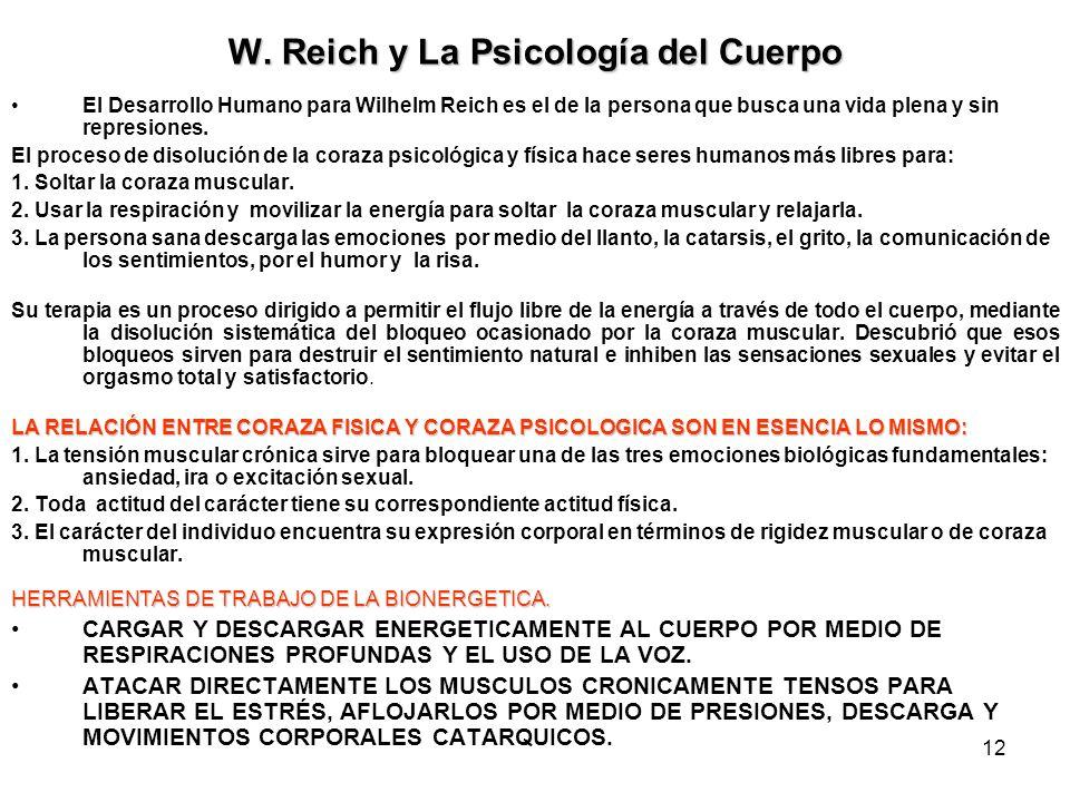 W. Reich y La Psicología del Cuerpo