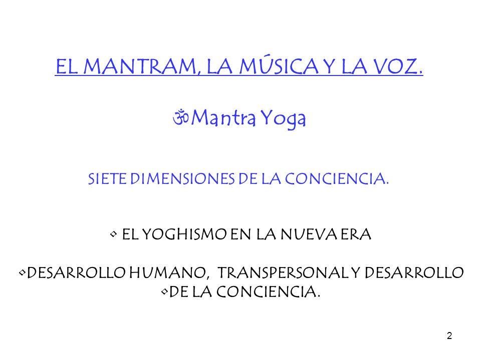 EL MANTRAM, LA MÚSICA Y LA VOZ. Mantra Yoga