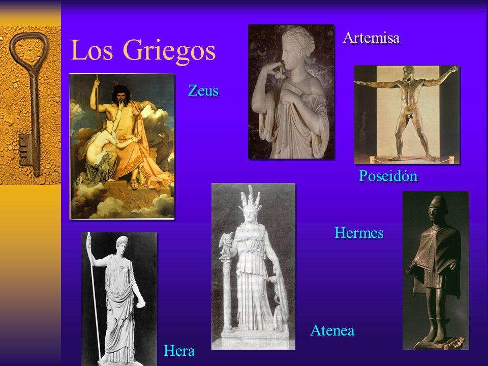 Los Griegos Artemisa Zeus Poseidón Hermes Atenea Hera