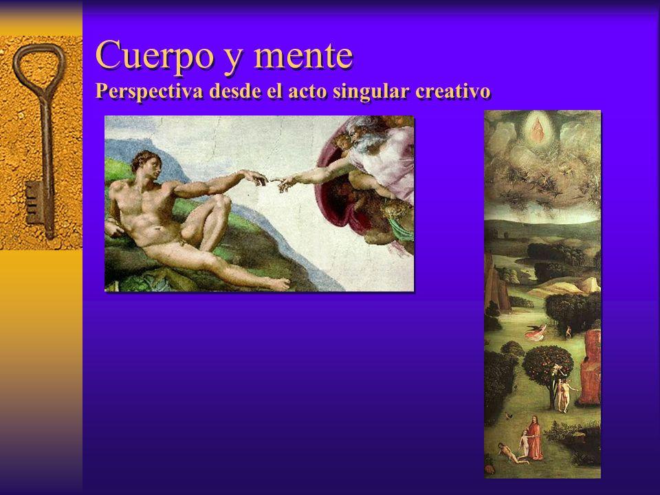 Cuerpo y mente Perspectiva desde el acto singular creativo