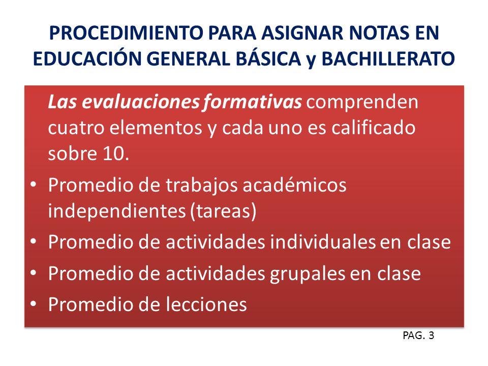 Promedio de trabajos académicos independientes (tareas)