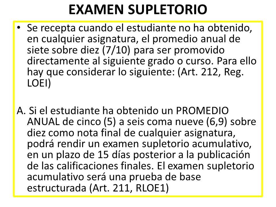 EXAMEN SUPLETORIO