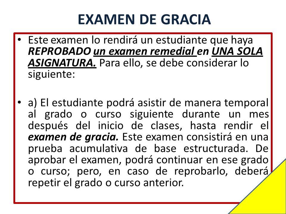 EXAMEN DE GRACIA