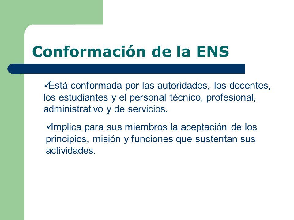Conformación de la ENS