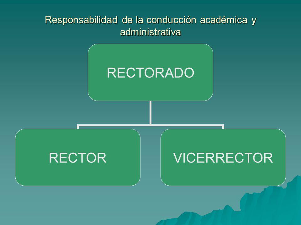 Responsabilidad de la conducción académica y administrativa