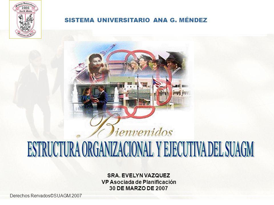 SISTEMA UNIVERSITARIO ANA G. MÉNDEZ VP Asociada de Planificación