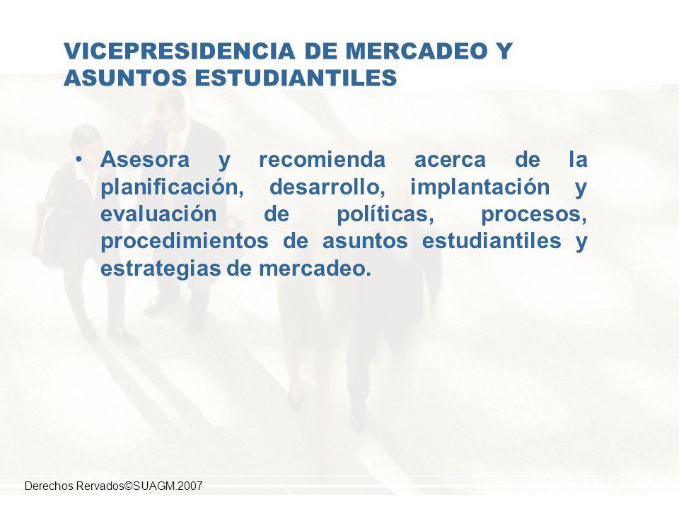 VICEPRESIDENCIA DE MERCADEO Y ASUNTOS ESTUDIANTILES